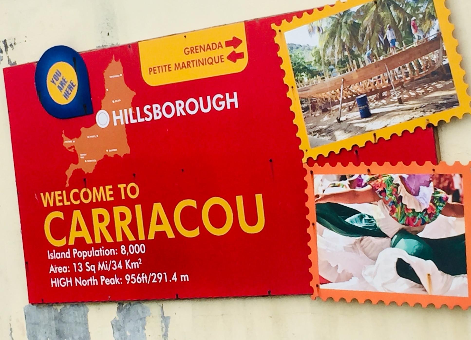 Carriacou Welcome Board