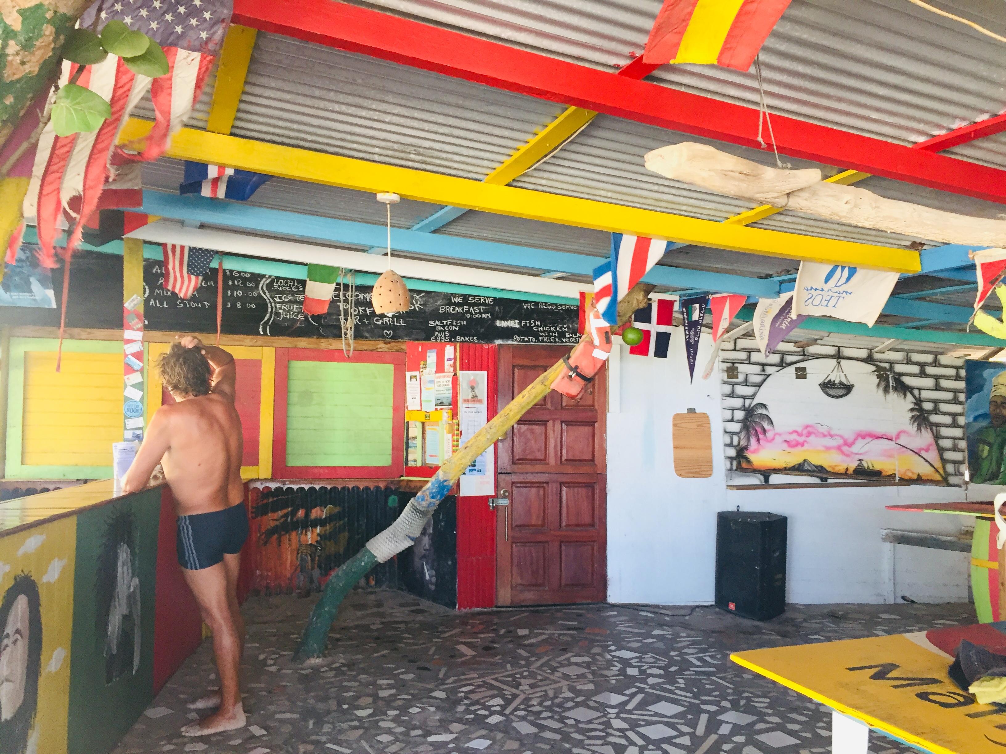 Barman - He's gone to Grenada!