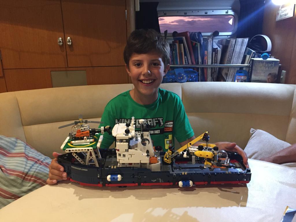 The proud builder of the Ocean Explorer.
