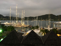 Falmouth Harbour from C&Bs Room