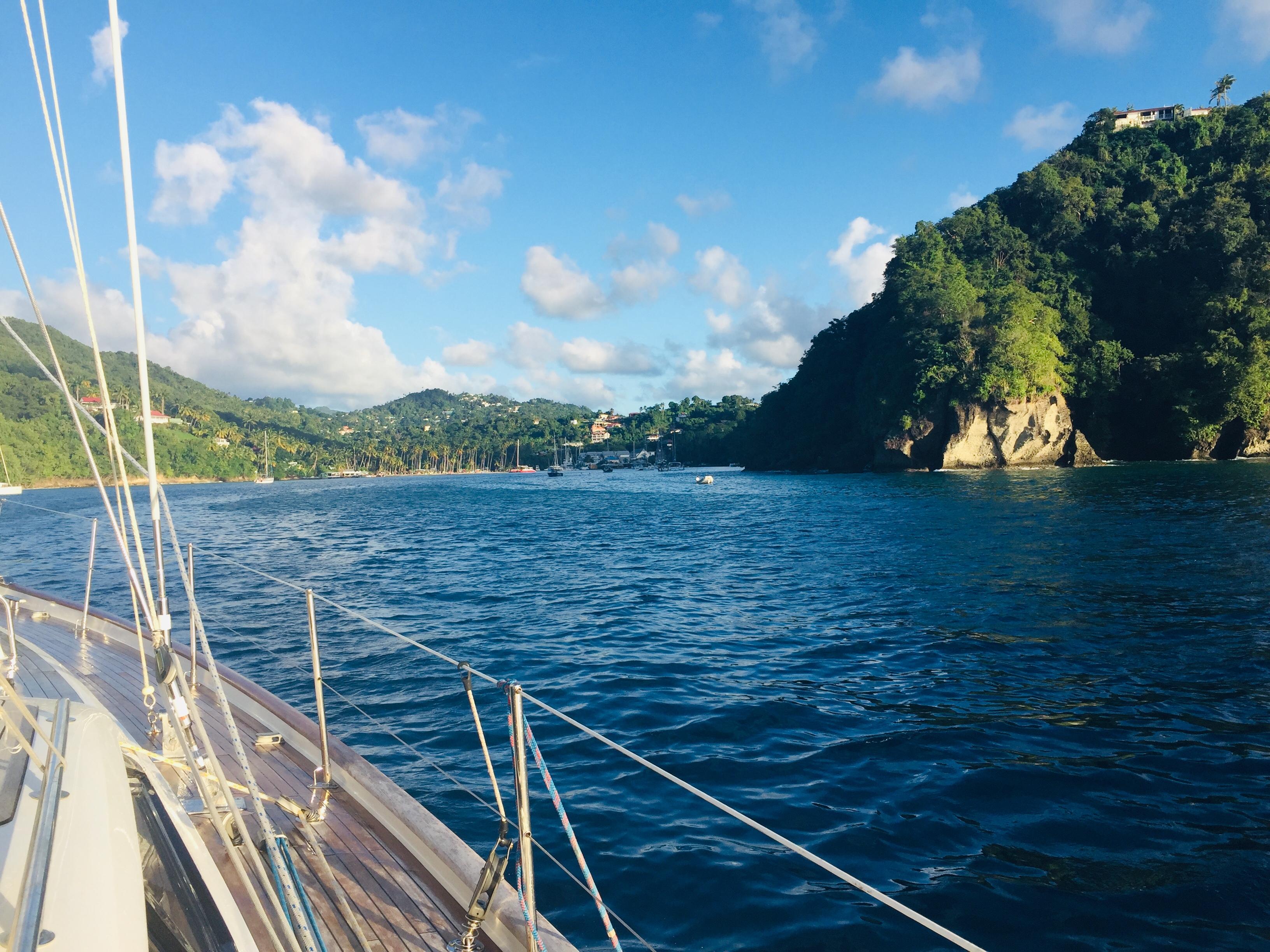 Hidden Entry into Marigot Bay