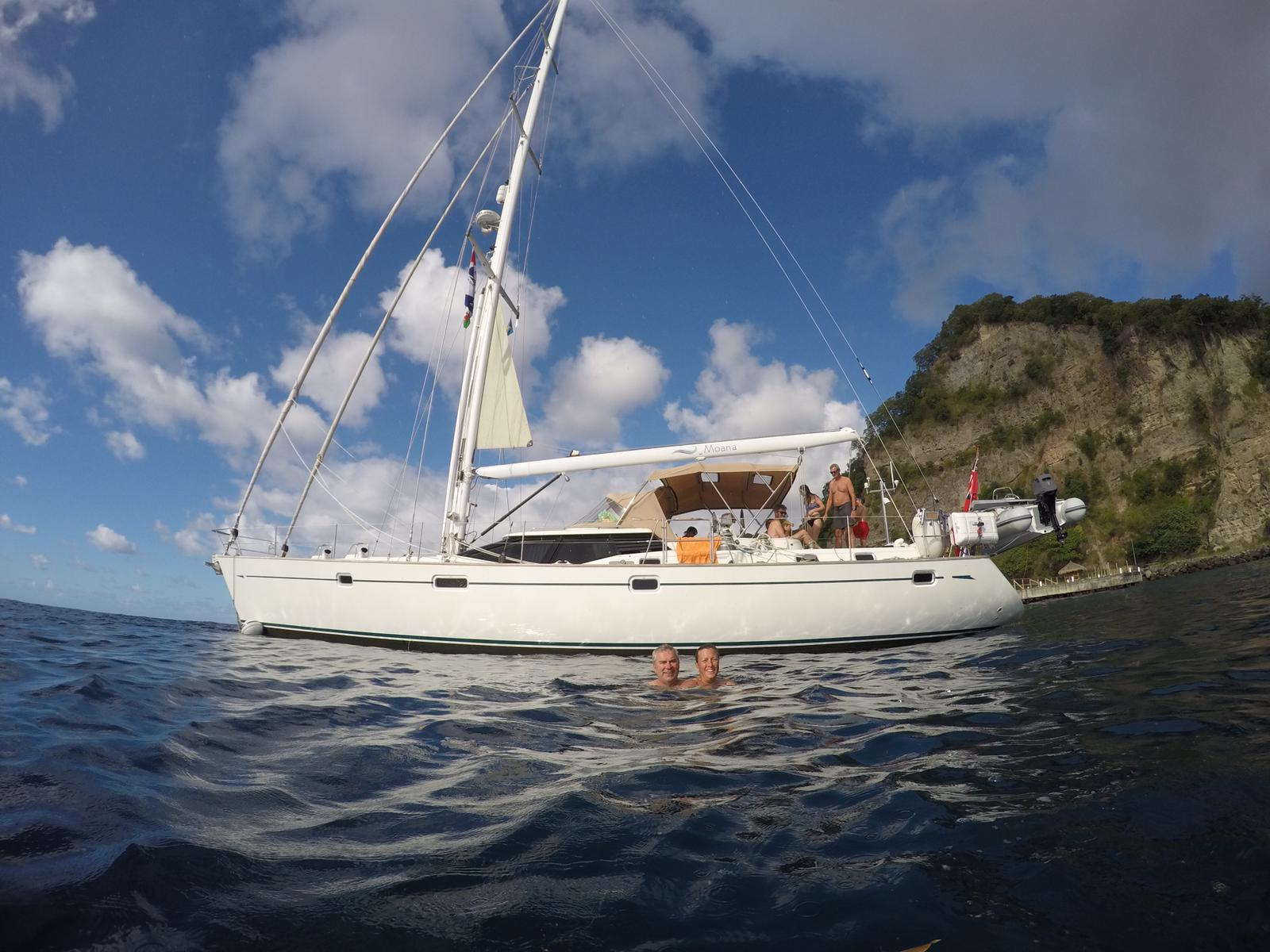 Anchored at Anse Chastenet