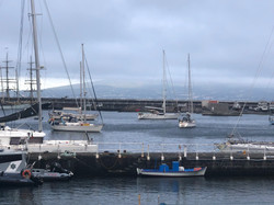 Anchored in Horta Harbour
