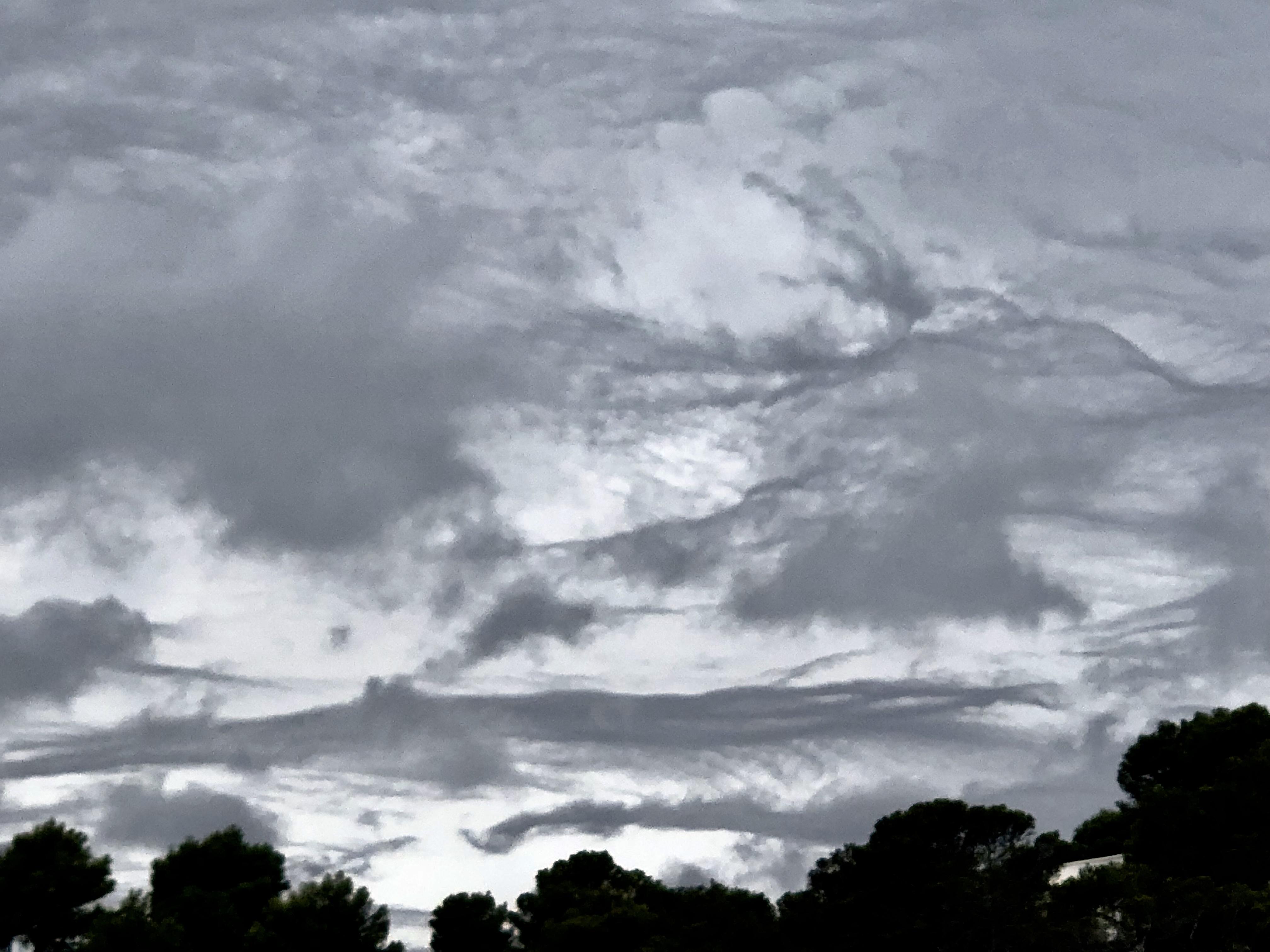 A moody Ibizan sky