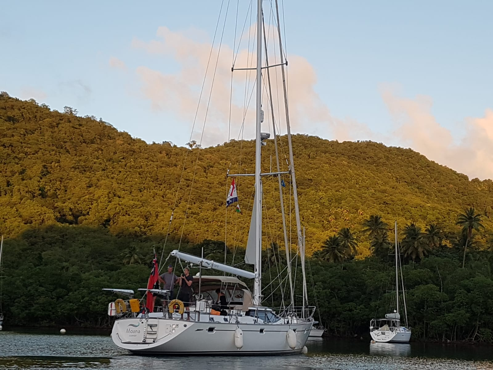 Settled in Marigot Bay