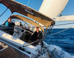 Beam Reaching at 9 knots