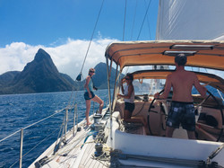 The Pitons - an iconic View