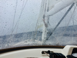 Into 30-40kt wind and heavy seas