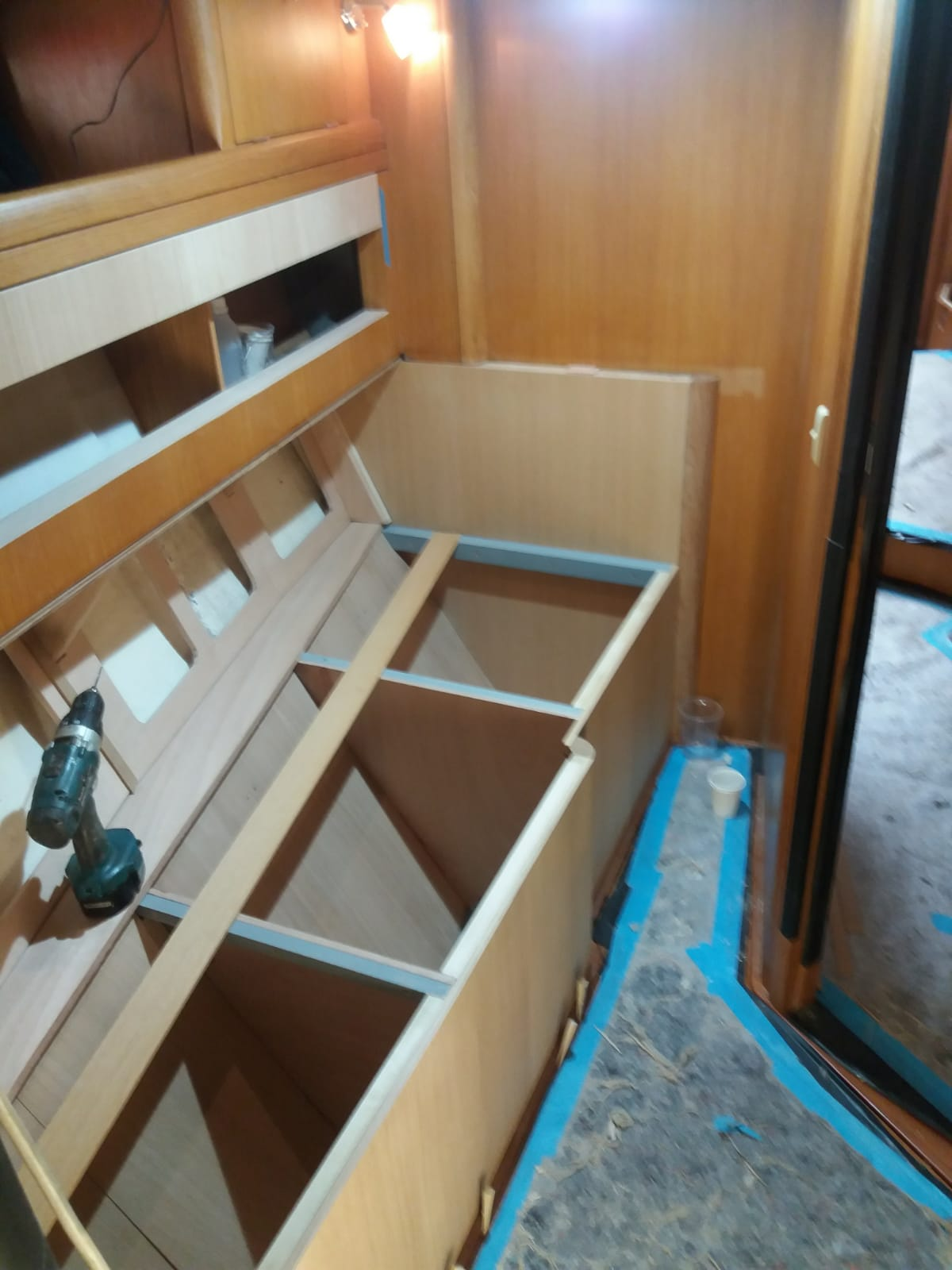 2018 06 S-board Bunks Progress 01