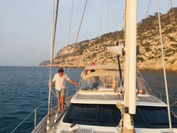 Arrival at Formentera