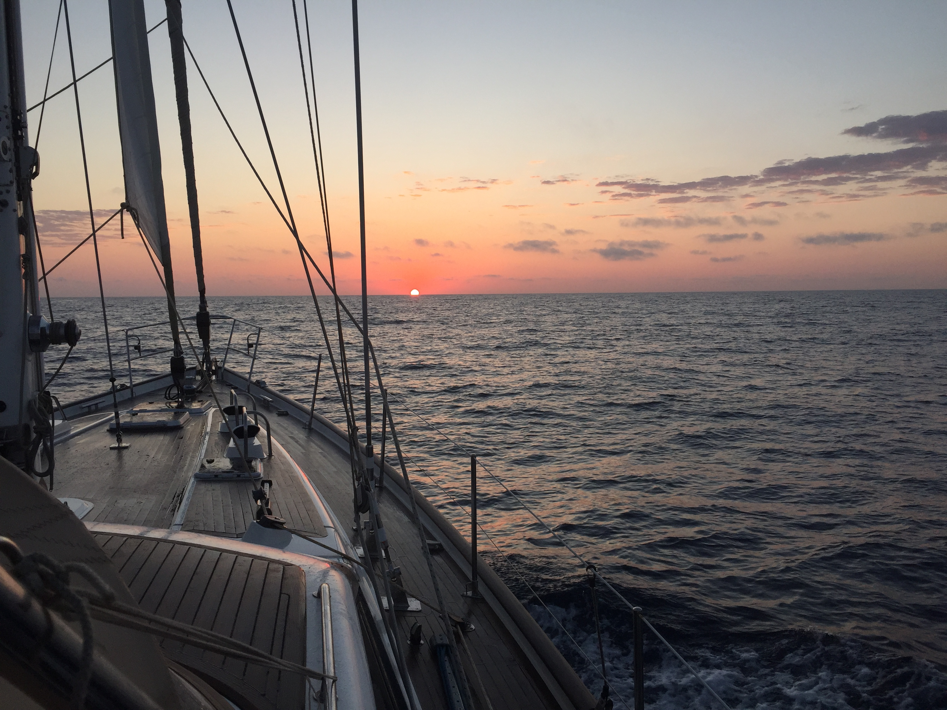 Sunrise on Passage to Corsica