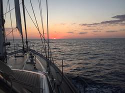 Sunrise on Passage to Corsica