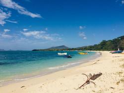 Paradise Beach and Union Island behind