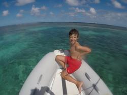 Snorkelling off Bird Island
