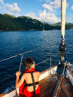 Approach to Marigot Bay