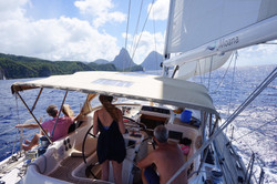 Heading for the Pitons