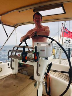 Definitely Comfortable at the Helm