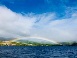 Rainbow over St Pierre Martinique