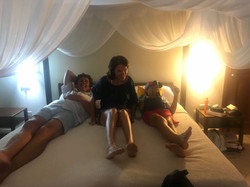 Trying out C&Bs Hotel Bed - Luxury!