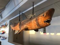 Shark Sculpture at The Cliff Beach Club.
