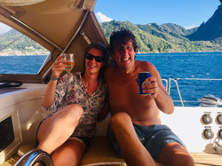 Steve and Fi off Soufriere
