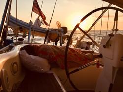 Sunset on Passage to Corsica