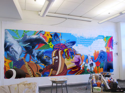 Boys and Girls Club Lounge Mural
