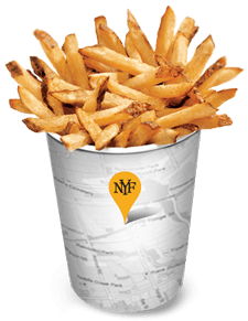 New York Fries fry cup graphic
