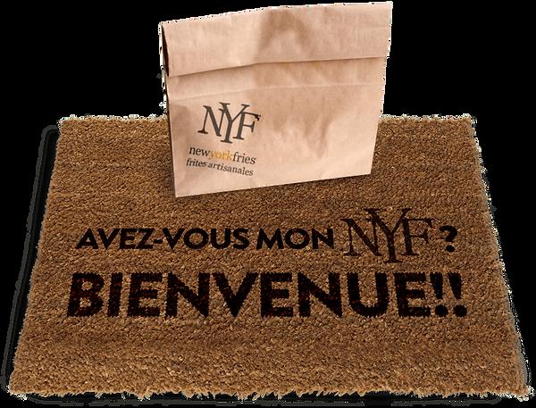 New York Fries french door mat image