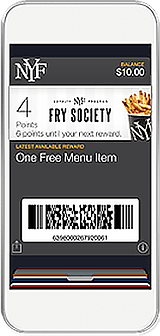 New York Fries Fry Society iPhone graphic