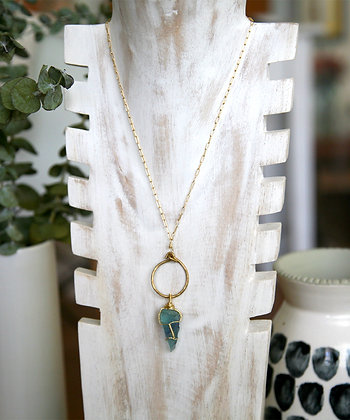 THE DIVINE PENDANT WITH HAND WRAPPED FLUORITE