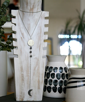 SILVER MOON PHASES LARIAT