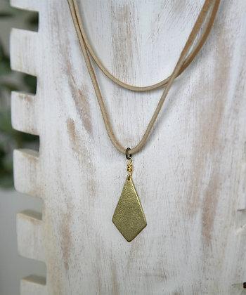 DIAMOND DOUBLE LEATHER CHOKER