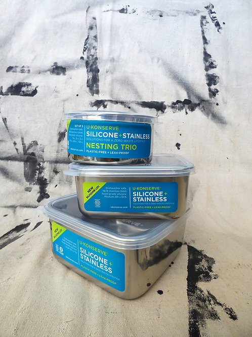 Ukonserve Silicone & Stainless Steel Container