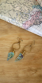 THE DIVINE EARRINGS WITH HAND WRAPPED FLUORITE