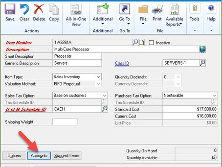 Dynamics GP: What are All These Inventory Accounts For? Dynamics GP Inventory Account Uses!