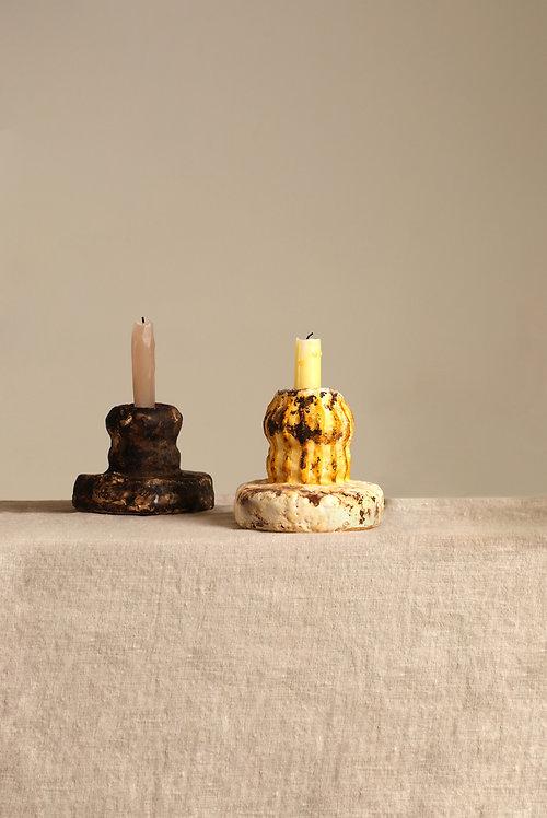 Mycelium Millennium     Small MM Yellow Candleholder
