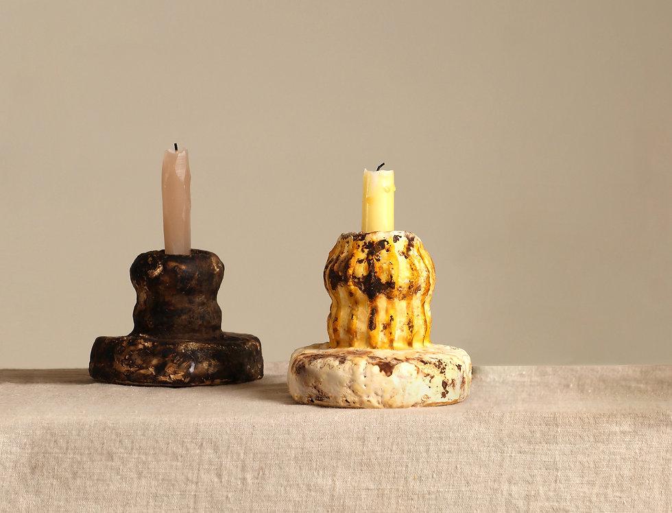 Mycelium Millennium |   Small MM Yellow Candleholder