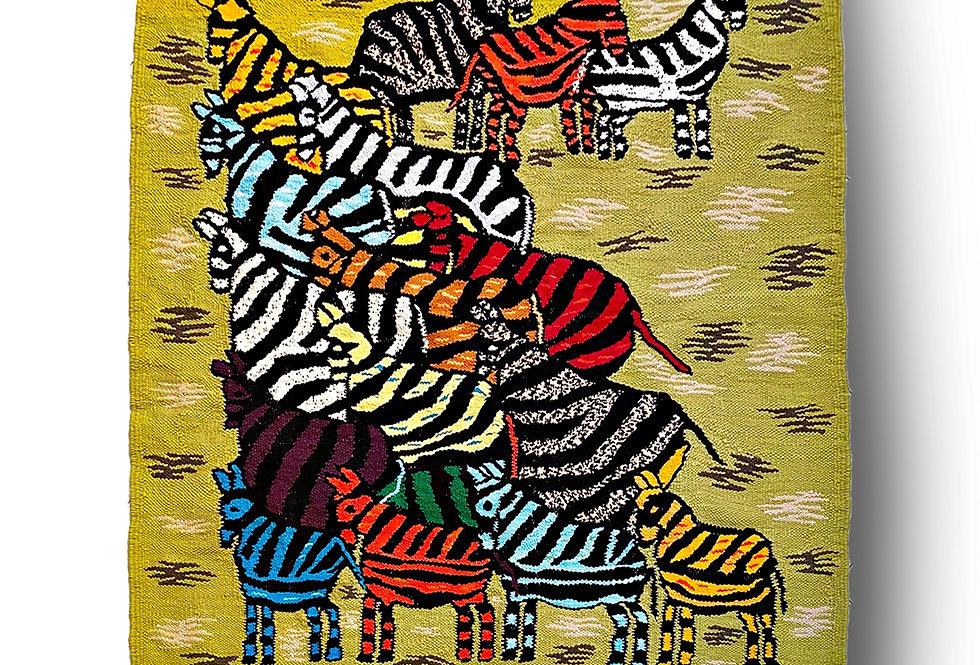 Nawaaz Saldulker | Zebra Herd Rug