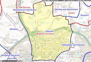 Patcham map