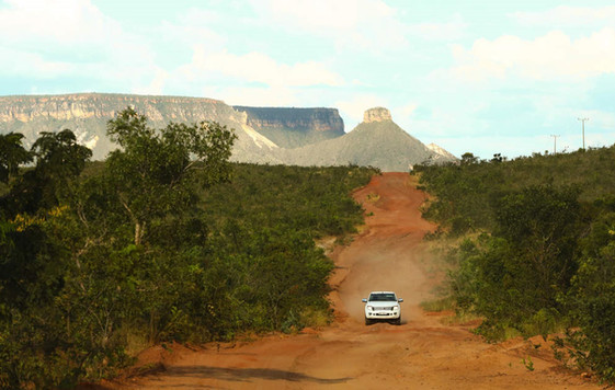 Leaving Serra do Espirito Santo, by dirt roads towards São Felix do Tocantins, northern part of Jalapão Park.