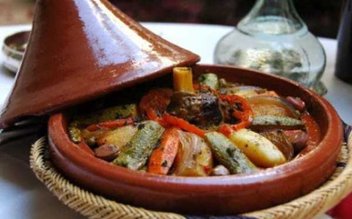 Lamb tagine with vegetables