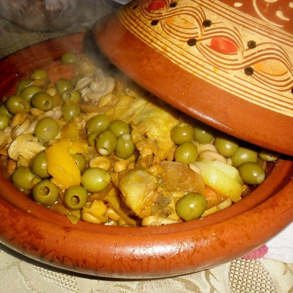 Mutton tajine with olives