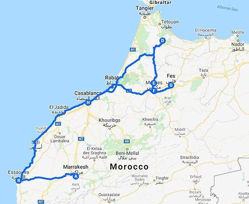 M - Itinéraire Maroc Cités impériales.jp