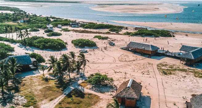 Atins, a piece of paradise, wedged between the desert, the ocean and Preguiças River