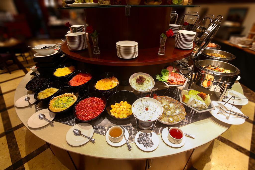 Typical breakfast buffet in hotel