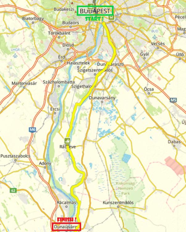 Budapest-Dunaújváros, 90 km by bike (Day 1)