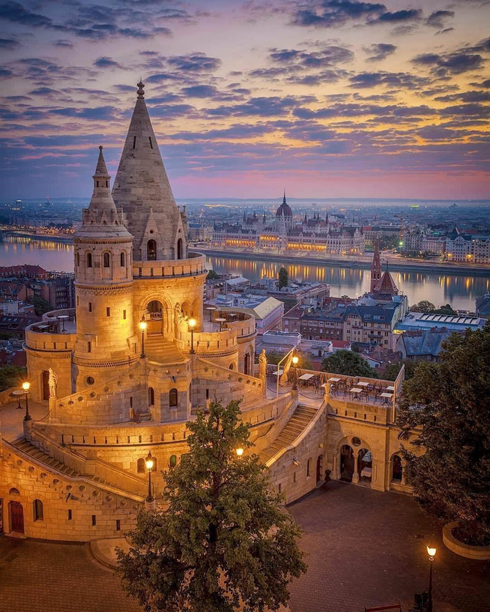 The start is in Budapest, capital of Hungary...