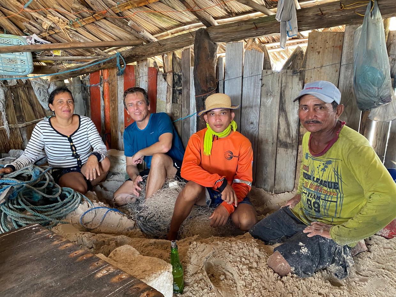 Break in a fisherman's hut near the ocean