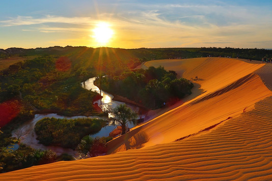 The Jalapão dunes, another unmissable sunset...